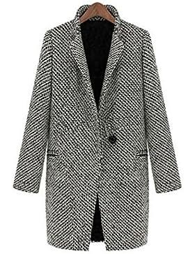 Cappotto Lungo Invernale da Donna JLTPH Maniche LungheInverno CardigansCasual Moda Cappotti Eleganti Aderenti...