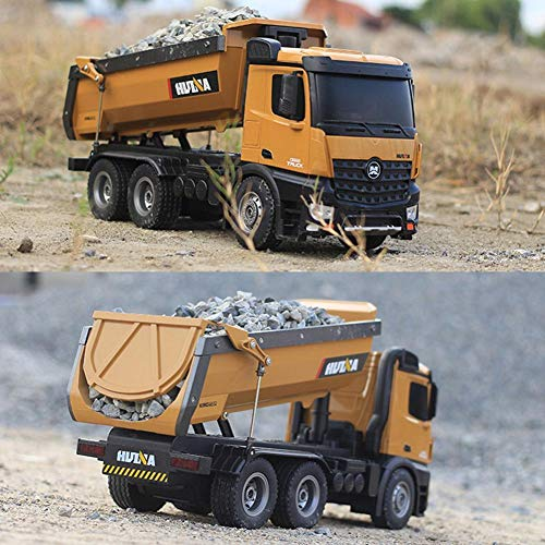 RC Auto kaufen Baufahrzeug Bild 3: s-idee® S1573 Rc Dump Truck 1:14 LKW 10 Kanal Kipplader Huina 1573*