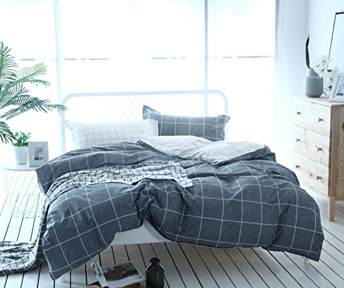 Bettwäsche Set Feinbiber Bettbezüge 100% Bio Baumwolle Maco.Satin Microfaser Bettbezug Bettlacken Betttüche (Bettbezüge, 240x220 cm)