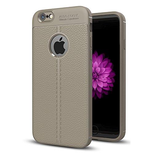 iPhone 7 Plus Schutzhülle,iPhone 8 Plus Schutzhülle,Valenth Litchi Muster TPU Hülle Schutzhülle für iPhone 7 Plus / 8 Plus Grau