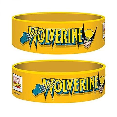 Marvel Retro–Wolverine–Bracelet de Silicone Pour COLECCIONISTAS–Wristbands de 24x 65x 1mm extensible