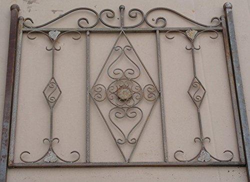 Gabella Schmiedeeisen Zaun Rankzaun Vitoria-Z 100 cm roh Rost Antik