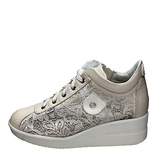 AGILE BY RUCOLINE donna sneakers zeppa 226 A PIZZO SPA 37 BIANCO