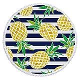 NIBESSER Strandtuch rund, Ananas