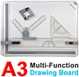 Smallwise Trading PRO Quality A3 Drawing Board Table with Parallel Motion and Adjustable Angle NEW