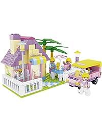 Ausini - Juego de construcción Casa con jardín & coche - 270 piezas (ColorBaby 42248)