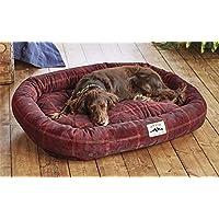 Orvis Comfortfill Wraparound Dog Bed / Large Dogs 60-90 Lbs., Field Tartan, Large