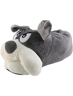 Tierhausschuhe Plüsch Tier Hausschuhe Hund Bulldogge Pantoffel Puschen Schlappen Pantoffel Flauschig weich 41-...