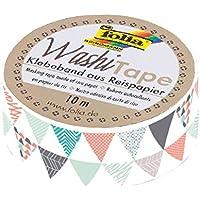 Folia 26066–Nastro adesivo di carta Washi, triangoli, ca. 10m X 15mm
