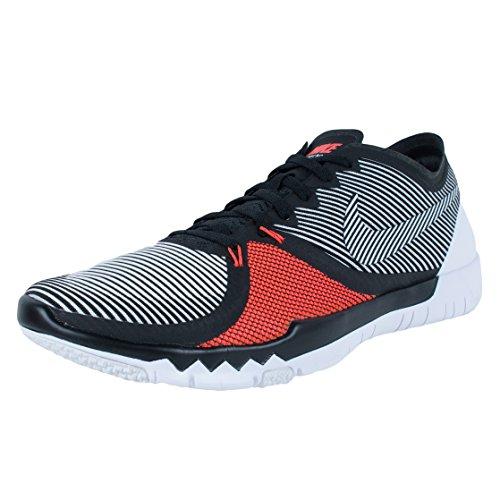 Nike Uomo Free Trainer 3.0 V4 scarpe sportive Nero/bianco/arancione (Black/White-Bright Crimson)