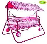 #1: BabyGo Baby Cradle Cot Cum Stroller (Pink)