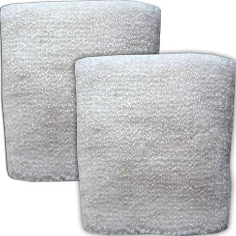 Pair of Terry Cloth Plain White Wrist Sports Sweatbands Table Tennis Badminton Squash Exercise Gym Wristbands
