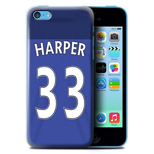 Offiziell Sunderland AFC Hülle / Case für Apple iPhone 5C / Fußballer Muster / SAFC Trikot Home 15/16 Kollektion Harper