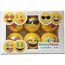 Neuheit Smiley, Golf Bälle zweilagig Professional Praxis Golfbälle, 6Bälle