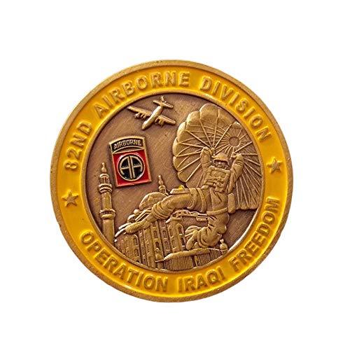 Iraqi Action,Usa,82 Airborne Division,Gedenkmünzen,Freiheitsstatue,911,George,Krieg,40Mm Kunstwerk/A/Einheitlicher Code -