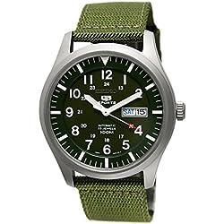 Seiko Men's Automatic Watch 5Sports Analog textile SNZG09K1