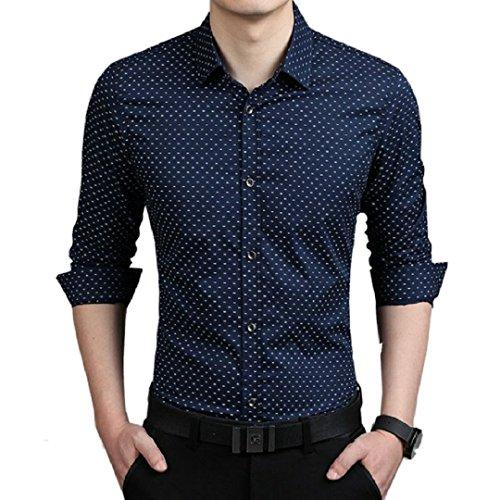 TOM T Men's Cotton Dot Print Casual Shirt