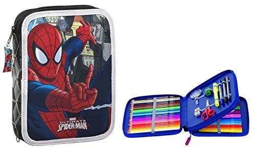 Marvel Spider-Man – Plumier doble grande, 56 piezas (Safta 411512056)