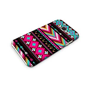 Cover Affair Aztec Printed Designer Slim Light Weight Back Cover Case for Samsung Galaxy J7 2015 Edition (Pink & White & Blue & Black & Other)