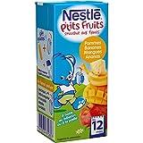 Nestlé Bébé P'tits Fruits Smoothies Pommes Bananes Mangues Ananas - Brique dès 12 Mois - 200ml - Lot de 12