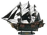 Home Decor–handgefertigt schwarz Pearl Schiff Modell