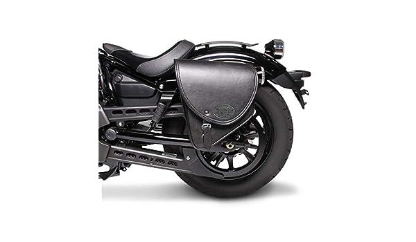 Sacoche Cavali/ère Indiana 10L pour Honda Shadow VT 600//125 C Noir Gauche