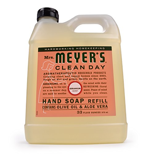 33 Oz Liquid Hand Soap Refill Pouch with Geranium by Mrs. Meyers BEAUTY (English Manual)