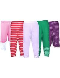 Gkidz Girls Pants Pack of 5 (GIRLS-5PCK-PANT-CMB-1_ Multicolor)
