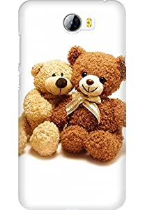 Amez designer printed 3d premium high quality back case cover for Huawei Play 5 (I Love You Teddy Bear)
