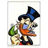Original Acrylfarben auf Acrylmalkarton: Dagobert Duck Do you like Money?? / 30x40 cm