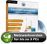 Faktura Manager Gebäudereinigung Rechnungsprogramm Netzwerk Software 3 PC