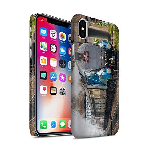 STUFF4 Matte Snap-On Hülle / Case für Apple iPhone X/10 / Scotsman/Bahnsteig Muster / Dampflokomotive Kollektion Dominion NZ