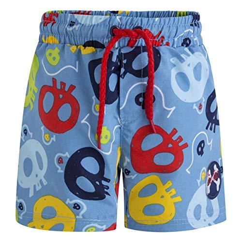 TUC TUC Bermuda baño Estampada Niño Pirates Costume da Bagno Bambino, Blu (Azul 16) 3 Anni (Taglia Produttore: 3A)