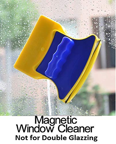 Limpiacristales magnético de doble cara, ideal para ventanas, parabrisas y otros cristales, incluye 2 almohadillas de algodón de repuesto, marca GN Enterprises