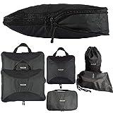 2b408971ee2b0 TraveLubes Packtaschen Set mit Kompression 6-teilig mit Kosmetik-Tasche