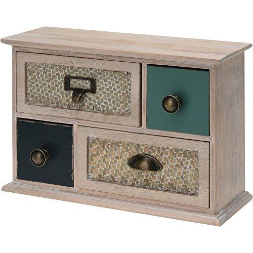 Mini Kommode aus Holz mit 4 Schubladen 32x22x12 cm