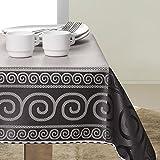 140x350 schwarz grau stahl anthrazit silber Tischdecke Tischtuch elegant praktisch pflegeleicht fleckgeschützt Grey