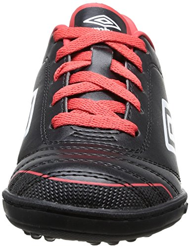 Umbro Classico Tf, Chaussures de football garçon Noir (137 Noir/Blanc/Rouge)