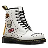 Dr. Martens Bianco 1460 Rockabilly Stivali-UK 3