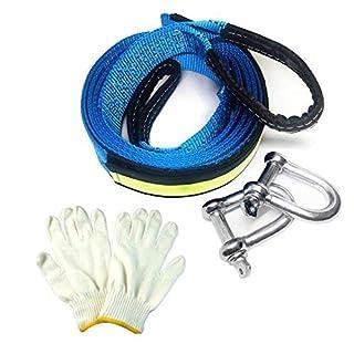 Abschleppseil, Auto Abschleppseil 5m Starterkabel 8 Ton Lastung mit Mit Rutsch Handschuhe und Aufbewahrungstasche