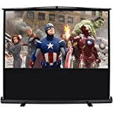 ARKSEN | Pull Up Projector Screen | 100' Inch | 16:9 HD | Portable Home Theater | Aluminum Case W/ Handle | Black