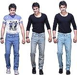 X-CROSS Men's' Slim Fit Jeans Combo- Lig...