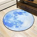 KYDJ Runden Teppich Teppich Teppich computer Fitness yoga Sitzkissen Schlafzimmer Wohnzimmer Bett Fußbodenbelag (Größe: Durchmesser 100 CM)