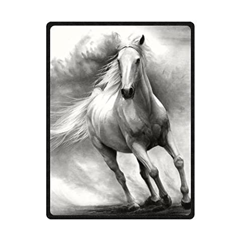 Custom Printed horse Blanket Velvet Plush Throw Blanket Bed Blankets Super soft and Cozy Fleece feeling Blanket Perfect for Couch Sofa or bed 150cm*200cm (5)