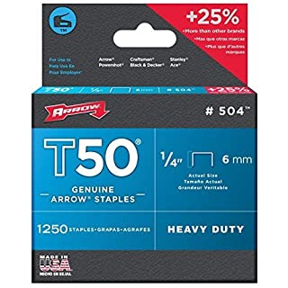 Arrow T50 Staples Manual 1/4 T50 Staples (Pack of 6) by Arrow Fasteners