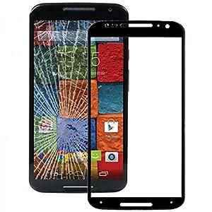 Displayglas Front Display Glas Schwarz für Motorola Moto X 2. Gen 2014 Reparatur SET Hochwertig + Opening KIT TOOL Werkszeug Neu New Angebot Zubehör Aktion Günstig