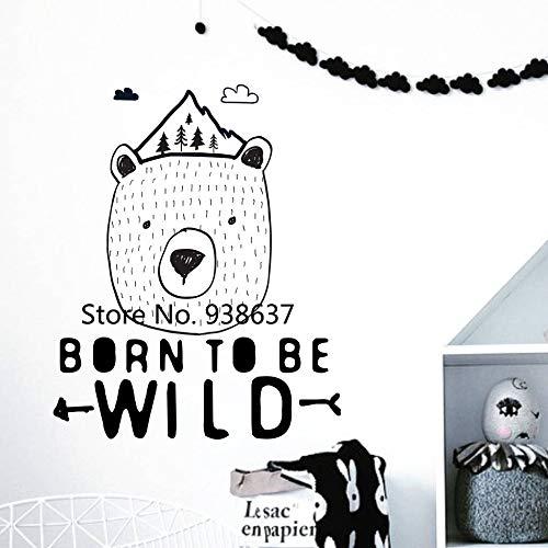 Born to be wild wandaufkleber wohnkultur wohnzimmer vinyl wandtattoo für schlafzimmer abnehmbare nordischen stil kunst aufkleber z 56x67 cm