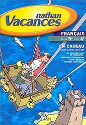 Cahier de vacances 2000, français de la 5e à la 4e