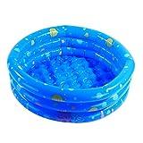 Lommer Kinder Schwimmbad, 80*28CM Kinder Pool Rund Einfach Planschbecken Baby Pool Schwimmbecken Wasserspielplatz für Kinder (Blau)