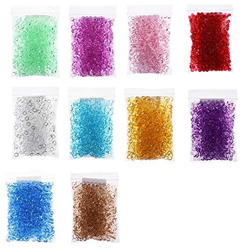 Cuentas pecera, 10 unidades colores, perlas pecera
